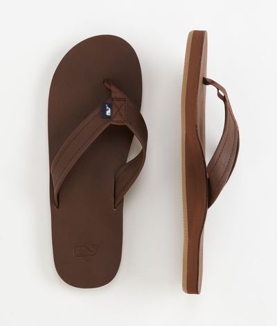 Men's Flip Flops: Leather Flip Flops for Men – Vineyard Vines