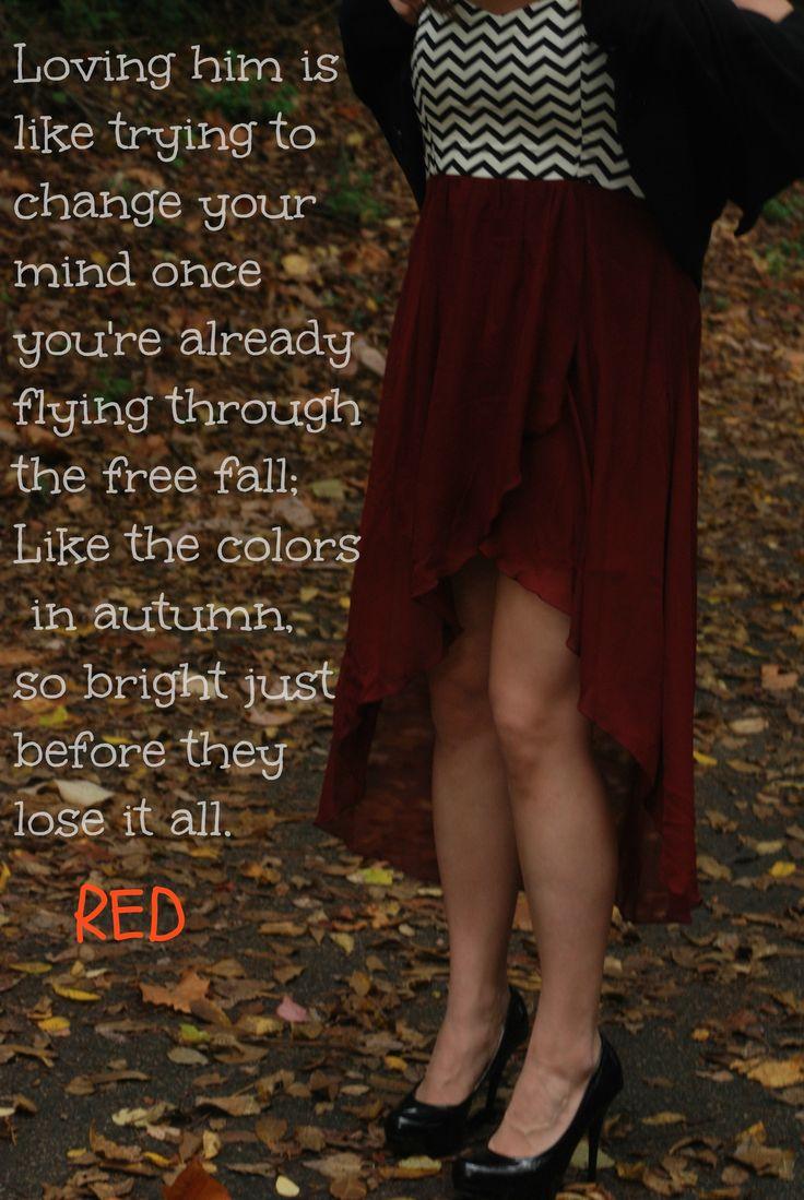 Taylor Swift red lyrics quote