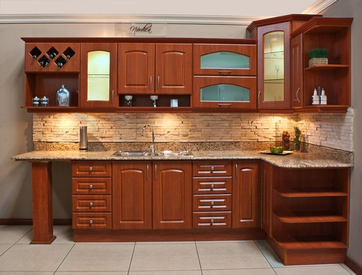 Best 25 gabinetes de cocina modernos ideas on pinterest for Muebles de madera modernos