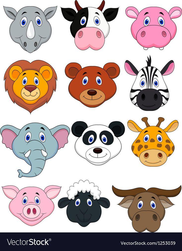 Картинки для детей лица животных из нарезки