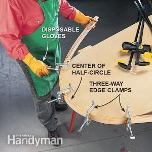 How to Bend Wood | The Family Handyman | Learn more about making laminated hardwood nosing for counter top corners.