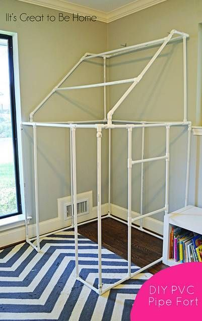30+ Creative Uses of PVC Pipes in Your Home and Garden --> DIY PVC Pipe Fort #DIY #PVC #furniture