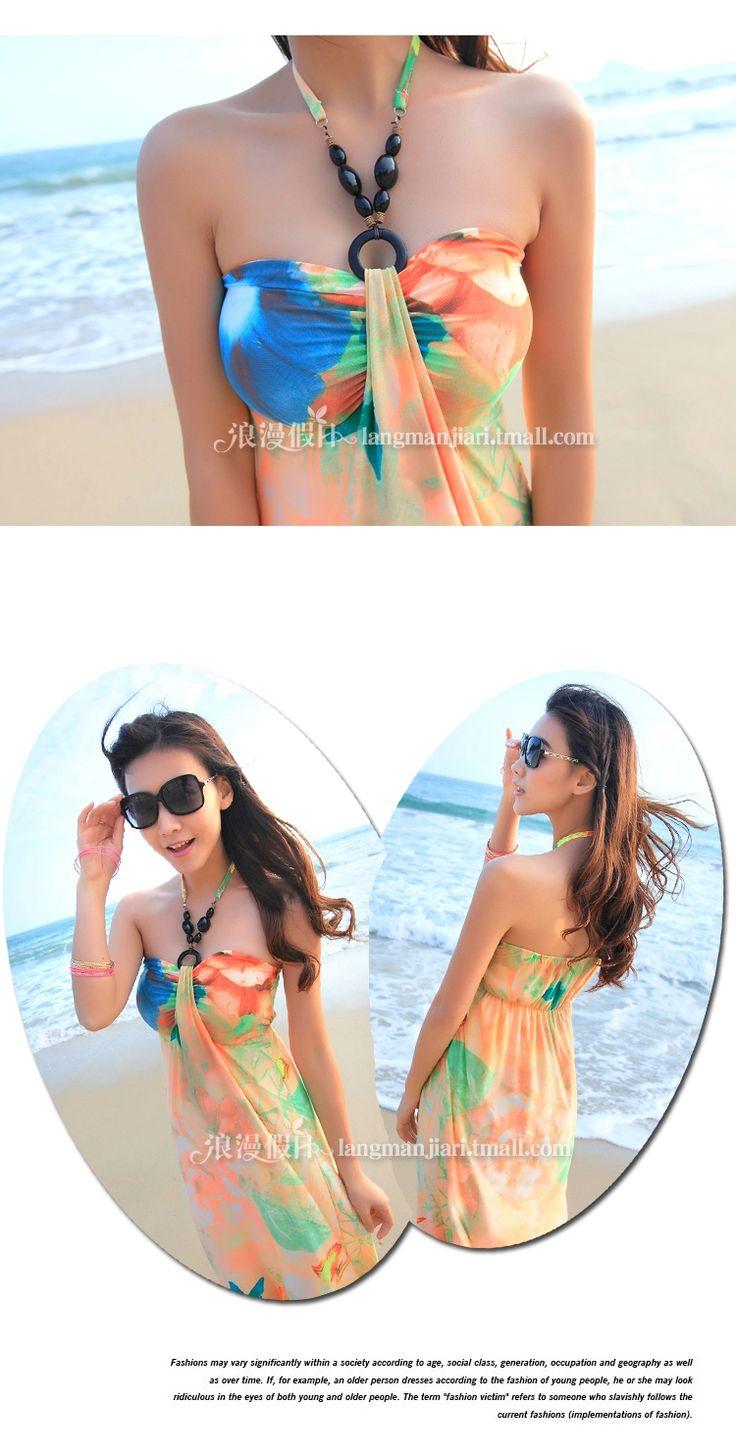 Ücretsiz nakliye bohem plaj elbise etek Maldivler sahil turizm tesisi Retro Tee elbise elbise -tmall.com Lynx