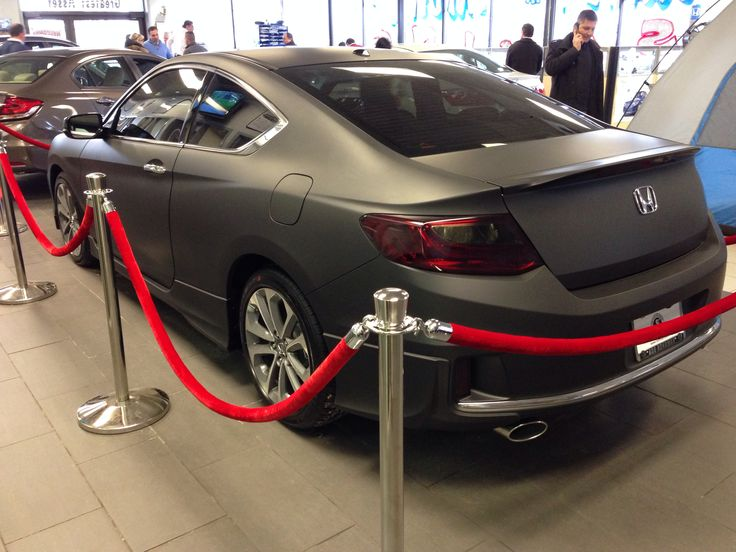 A 2014 Honda Accord coupe wrapped in Matte Black.  My NewYears  resolution is to continue bringing the Honda world closer together.  I want to attend 6 Honda events in the U.S and 1 outside the country #NRHNewYear  #Honda