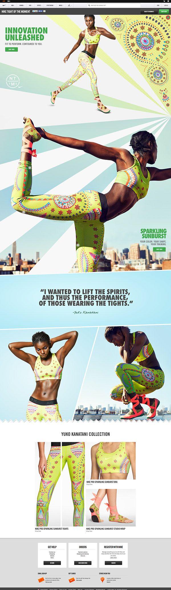 Nike: Tights of the Moment by Mariola Bruszewska, via Behance