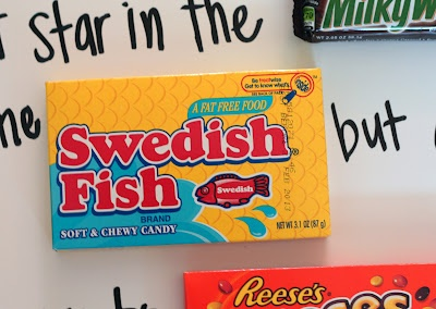 Fun Candy Message for Father's Day.  Uses: Take 5, Good and Plenty, Goobers, Rolos, 100 Grand, Milk Way, Swedish Fish, and Reese's Pieces!