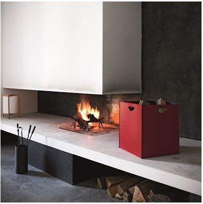 hoolit - Firewood holder and Pellet Holder Leather Design. Made in Italy - mod. Marte