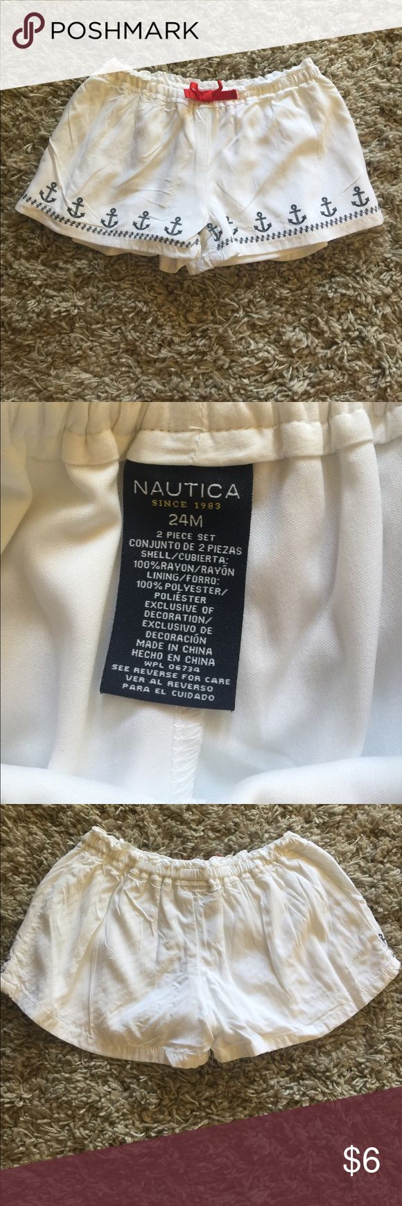 Darling Nautica Shorts Super cute Nautical shorts size 24 months. Elastic waistband. Nautica Bottoms Shorts