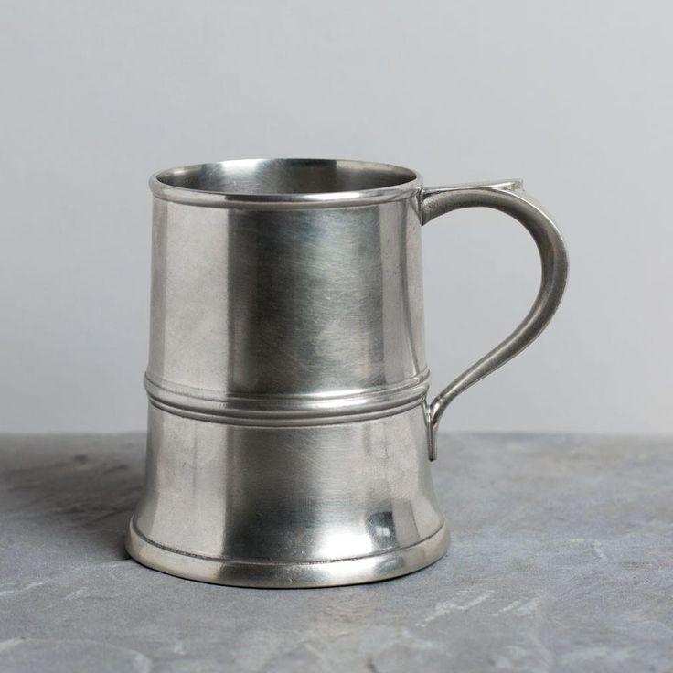 pewter tankard pint cup