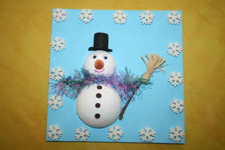 bonhomme de neige avec boules de polystyr ne no l. Black Bedroom Furniture Sets. Home Design Ideas