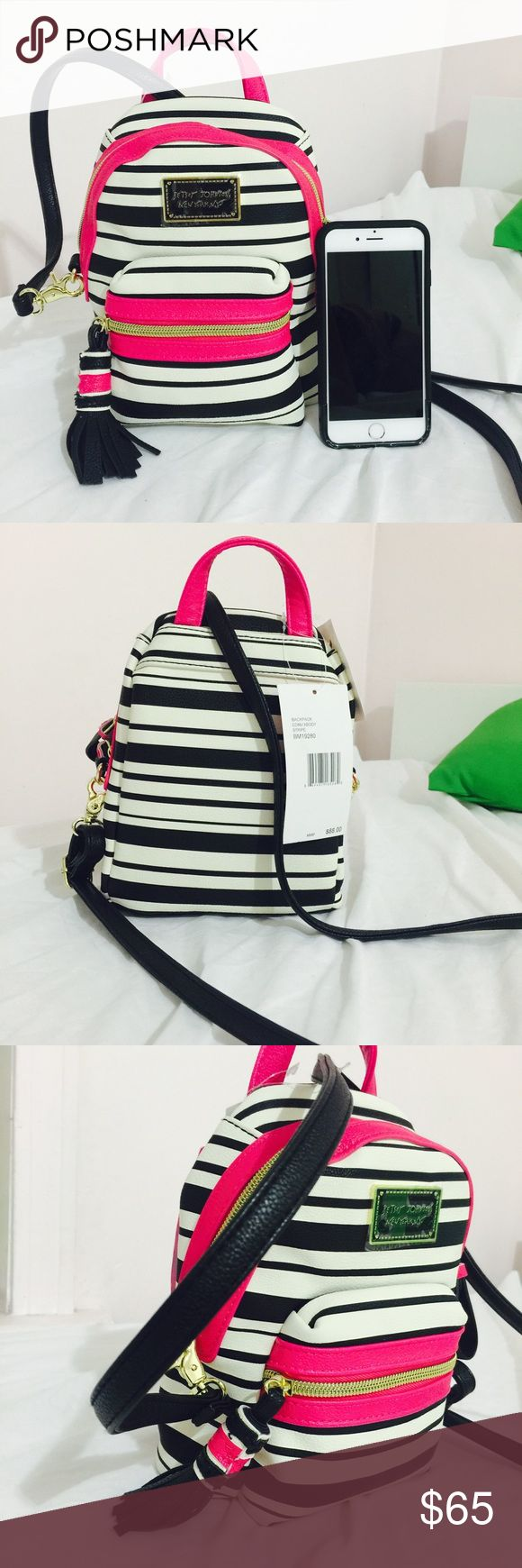 Betsey Johnson mini backpack 😍😊 Brand new, super cute, no trade 🚫, you can store many things inside. Betsey Johnson Bags Backpacks