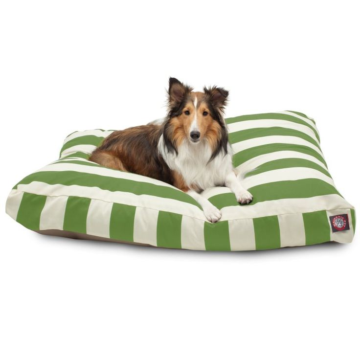 Majestic Pet - vertical stripe rectangle dog bed     #dogs #dogbed #majesticpet #pets #pethealth #bed #doglovers #dogmom #outdoor #stripes