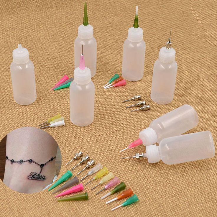 Henna Kit Applicator Bottle Paste Tattoo Body Art Nozzle Drawing Making Tool Set #Unbranded