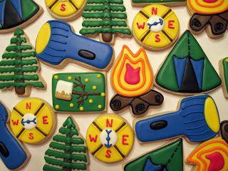 Laura's Custom Cookies Gallery: Camping