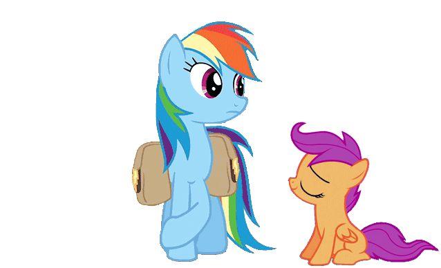 Resultado de imagen de animacion de rainbow dash GIF