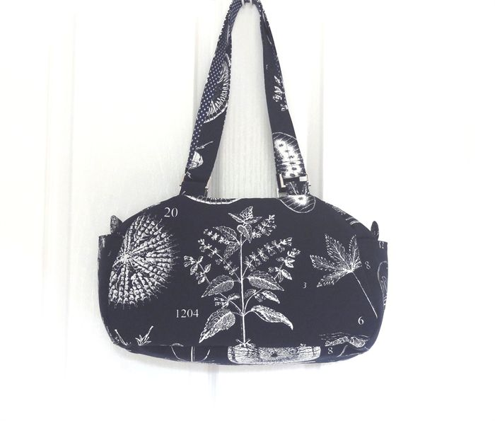 Navy Botanical Illustrations Boston Shoulder Bag | One Busy Sloth | madeit.com.au