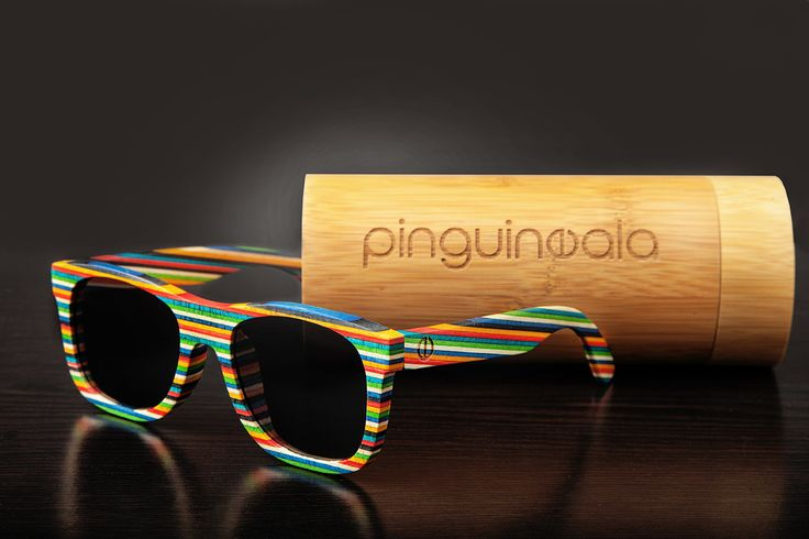 Color Bamboo Sunglasses - Polarized Lenses - 100% UV Filter - Category 3 - Bamboo Case and Protective Bag