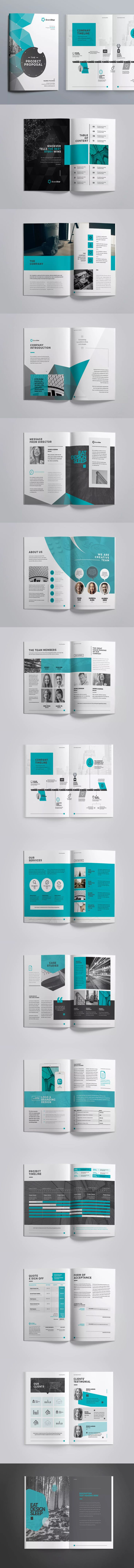 proposal report template%0A Project Proposal Template InDesign INDD USLetter and A  Size