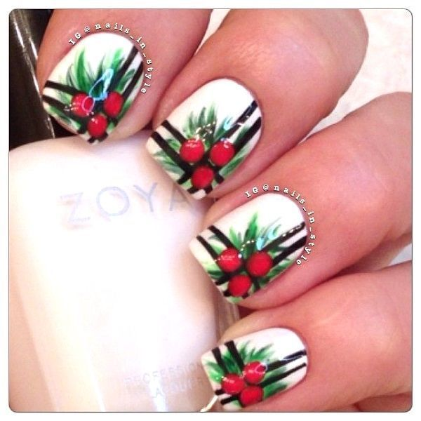 201 best christmas nail art designs images on pinterest nail 40 festive and fabulous christmas nail art designs all about christmas prinsesfo Images