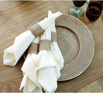 Set of 4 Piper Woven Napkin Rings tropical-napkins