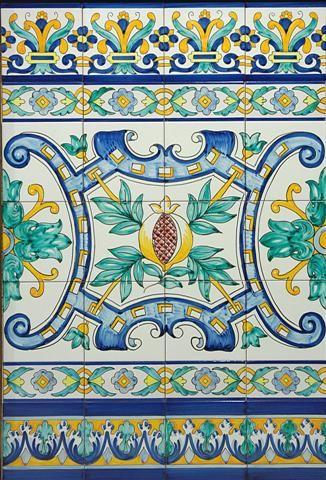 Mejores 25 im genes de azulejos y zocalos en pinterest - Ceramica artistica sevillana ...