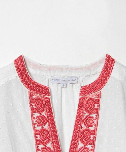 Ray BEAMS(レイビームス)の「CHRISTOPHE SAUVAT / 刺繍 トップス(シャツ/ブラウス)」|詳細画像