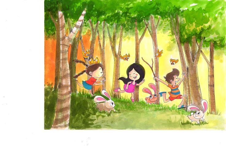 La historia que les voy a contar sucedió hace ya unos años, cuando yo era niña. Durante un radiante día de vacaciones familiares lo que en principio era un simple paseo, terminó convirtiéndose en una retahíla de piruetas y ruedas sobre la arena. Los juegos habían comenzado sobre los verdes prados: correr sin dirección o rumbo, saltar la cuerda, reunir piedritas de diferentes formas y danzar al viento eran mis planes favoritos. Gozo de la libertad, para soñar, imaginar y vivir...