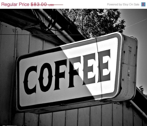 New Year 50 Sale Coffee Shop  18X24 Breakfast by FrozenTimePhoto, $41.50