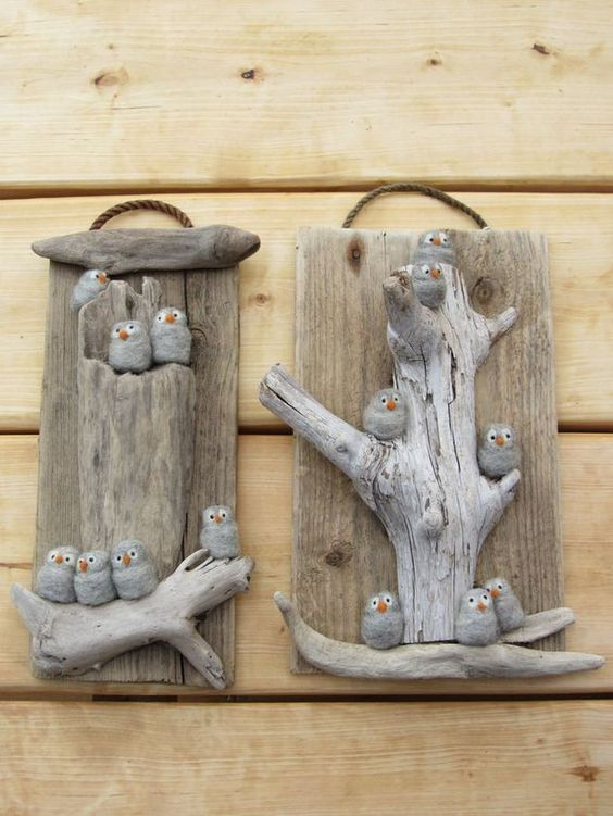 17 best ideas about driftwood art on pinterest driftwood for Craft ideas for driftwood