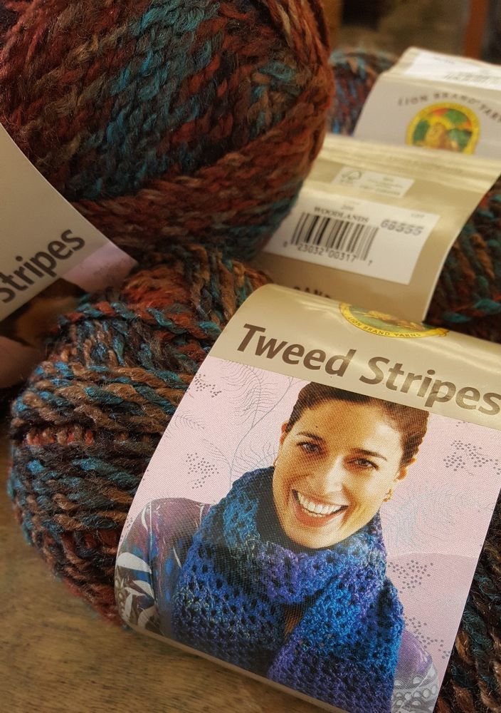 lion brand homespun yarn tweed stripes, woodlands , bulky,  earth colors #LionBrand