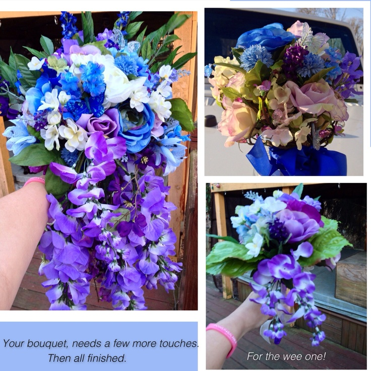 Bouquets Blue And Purple Wedding Ideas Pinterest