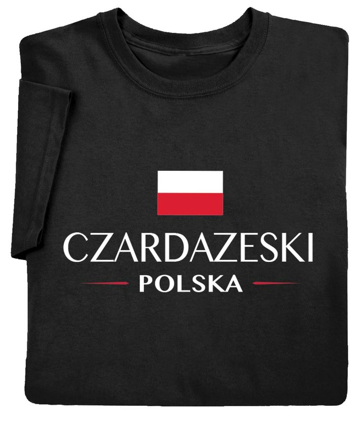 "Personalized ""your Name"" Polish National Flag Shirt – Long Sleeve Tee – Medium"