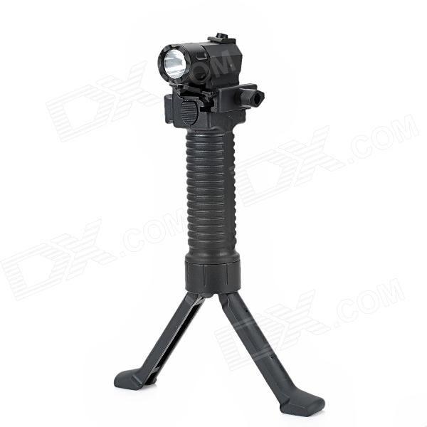 Cree Q3 180lm 2-Mode White Flashlight w/ Retractable Bipod Hand Grip for 20mm Gun - Black (1 x CR2) Price: $37.80