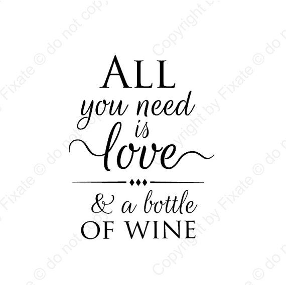 Wall Sticker Wine Quote Wall Decal Quote Wine Wall