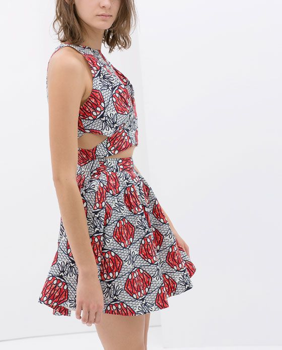 Printed Crossover Dress, Zara. Would like to try this on!