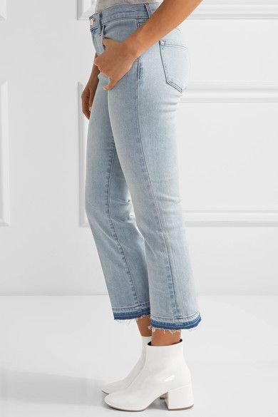 J Brand - Selena Cropped Mid-rise Bootcut Jeans - Light denim - 24