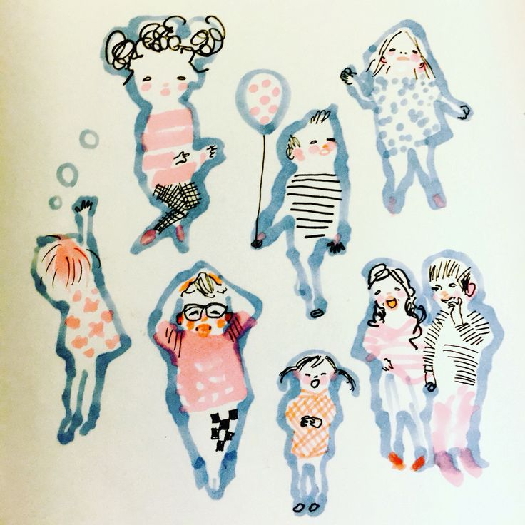 Kids by Marie Åhfeldt, Mås Illustra. www.masillustra.se #kids #children #illustration #drawing #masillustra