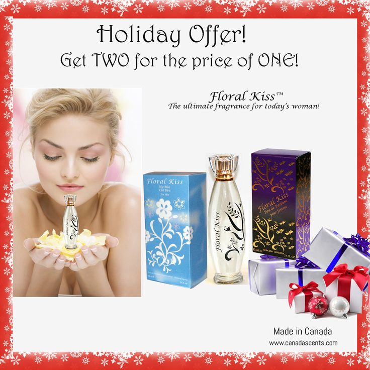Holiday Offer-Get TWO Perfumes for the price of ONE Don't miss out – Buy one Floral Kiss perfume and get another ABSOLUTELY FREE.  You can either select to get one of each i.e. one Floral Kiss and one Sky Blue or if you prefer you can opt to get both of the same kind! HURRY – offer valid until stocks last!