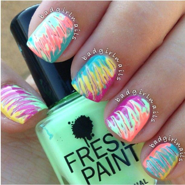 Rainbow nail art #nailart #nails #manicure #nail #nailsart