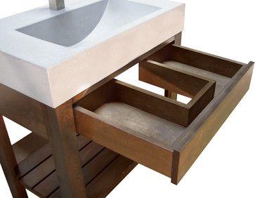 Concrete Sink - Trueform Concrete - bathroom sinks - new york - Trueform Concrete