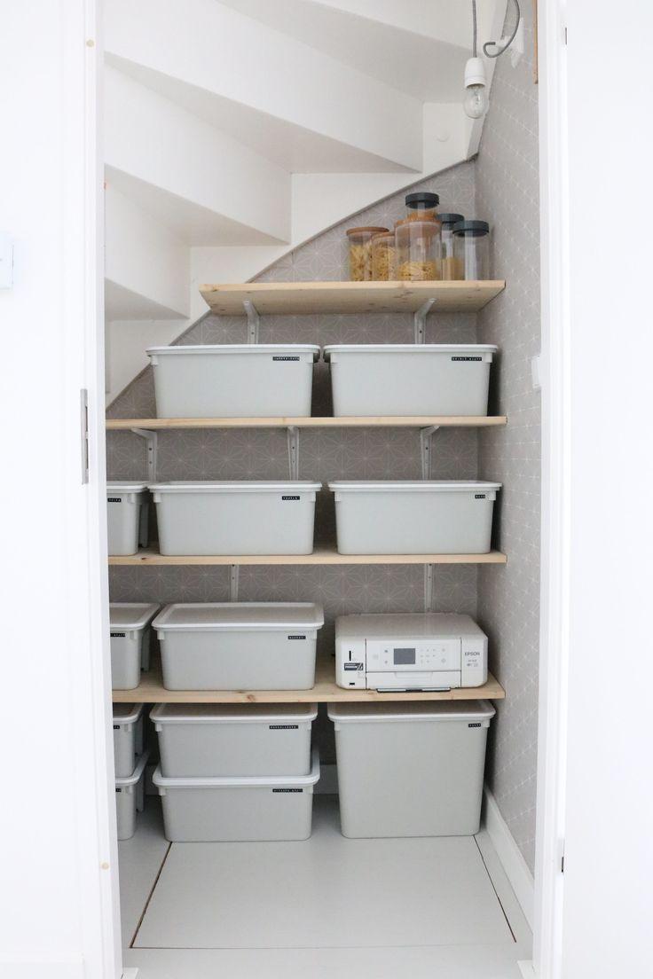 Een kijkje in onze trapkast! – Homelab Interieurstyling