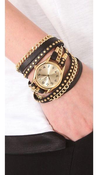 Fuerte tendencia en accesorios, puedes intentaro tu misma con algún reloj viejo y renovar la correa :) Sara Designs