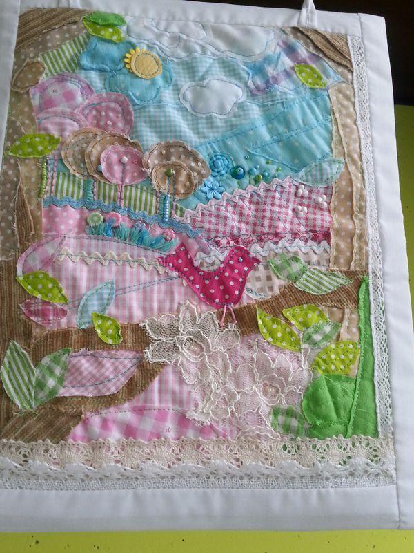 Quilt Patchwork kép textilkép mesekép kép babaszobába