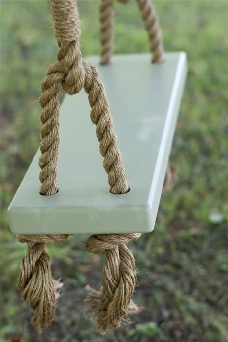 love this rope swing! seat is french gray full gloss by farrow & ball