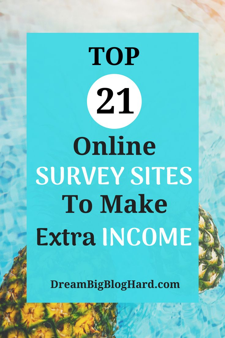 21 Best Survey Sites To Make Extra Money Work From Home Tips How To Make Money Best Survey Sites
