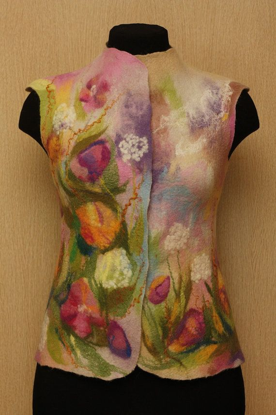 Frame of Mind / Felted Clothing Waistcoat by LybaV on Etsy, $200.00