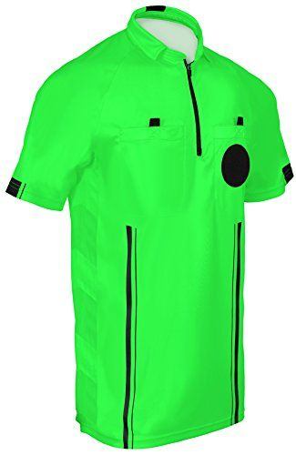 NEW! 2018 USSF Soccer Referee Jersey (2018 Green, Adult Medium):   High Quality Soccer Referee Jersey