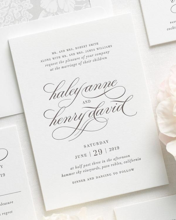 affordable letterpress wedding invitations |Inexpensive Wedding Invitations Letterpress