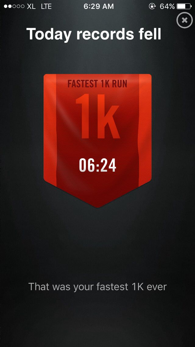 Fastest 1k below 6.30 today! Yeayyy! 👊🏃💪