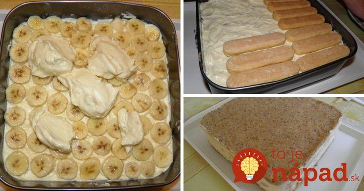 Výborná krémová torta s orechmi, keksíkmi a banánmi. Je jednoduchá, rýchla a ak hľadáte dobrý dezert pre oslávenca, ktorý navyše zvládnete rýchlo a jednoducho, práve ste ho našli!